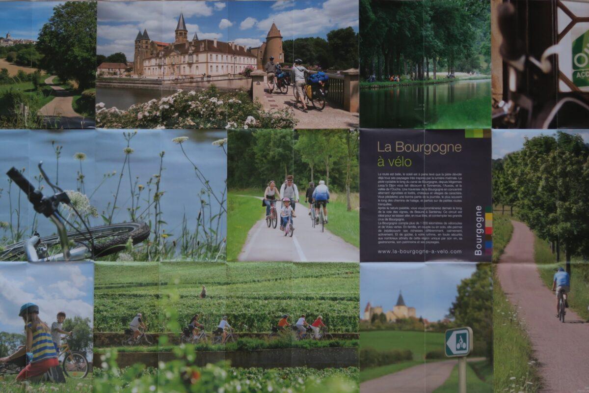 Itinéraire du tour de Bourgogne à vélo