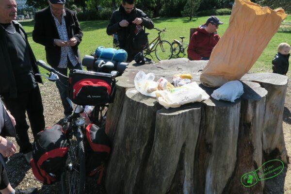 Petit déjeuner pour mon départ du tour de Bourgogne à vélo